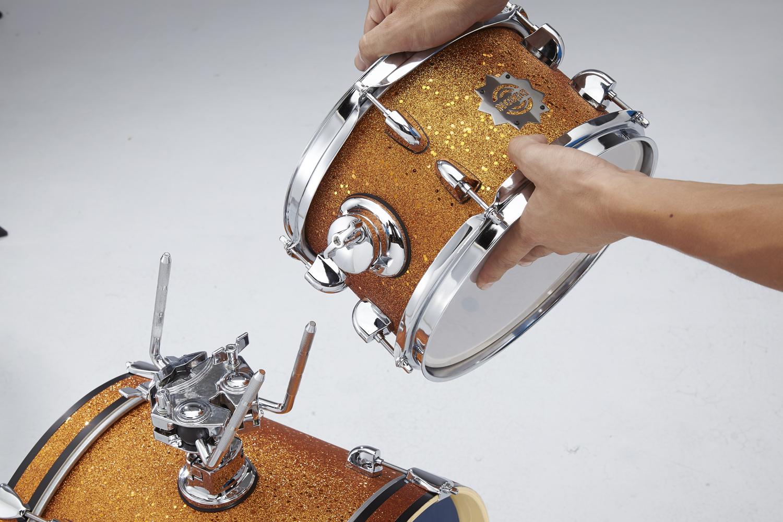 dixon drum set jet set plus silent drum set red sparkle travel drum kit. Black Bedroom Furniture Sets. Home Design Ideas